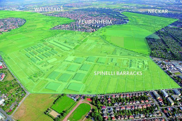 Der Grünzug von Spinelli aus gesehen. Quelle: Stadt Mannheim, Fachbereich Presse und Kommunikation